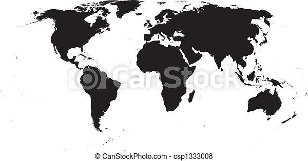 世界, 矢量, 地圖 - csp1333008
