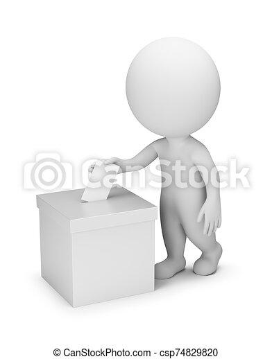 人們, 投票, -, 3d, 小 - csp74829820