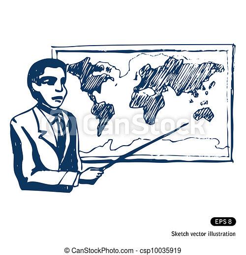 人, 地圖, 世界 - csp10035919