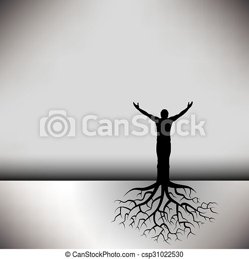 人, 根, 樹 - csp31022530