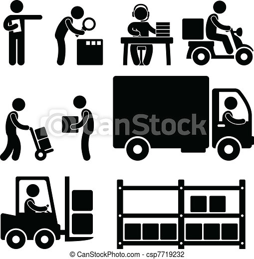 倉庫, 交付, 後勤, 圖象 - csp7719232