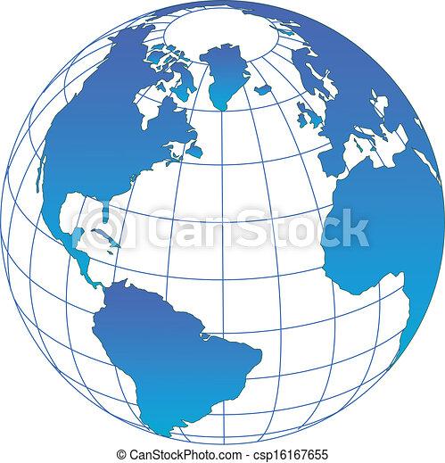 全球, 矢量 - csp16167655
