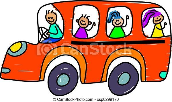 公共汽車, 學校 - csp0299170