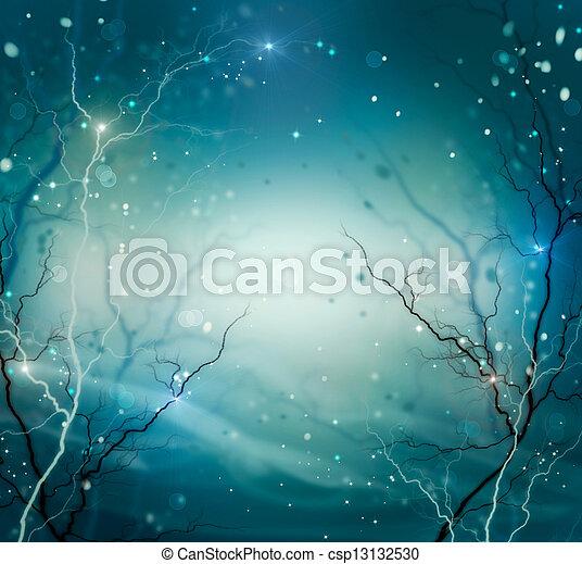 冬天, 背景。, 摘要, 自然, 幻想, 背景 - csp13132530
