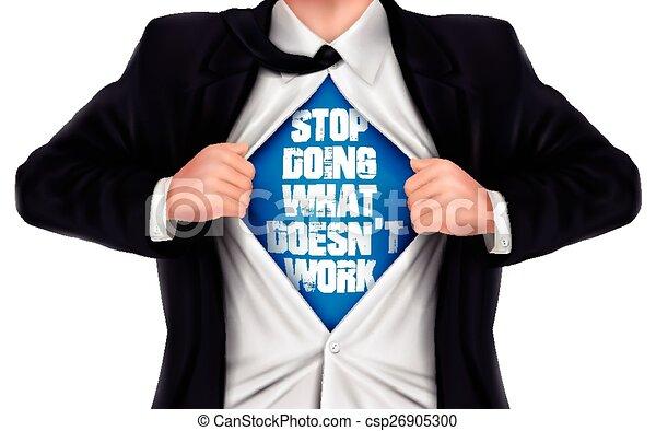 商人, 什麼, 顯示, 停止, 不, 詞, 工作 - csp26905300