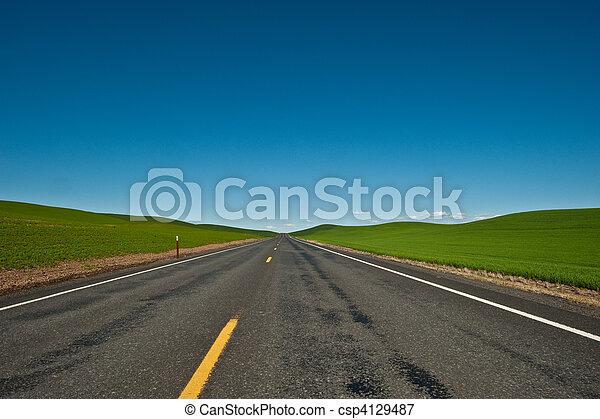 國家, 孤獨, 路, 空 - csp4129487