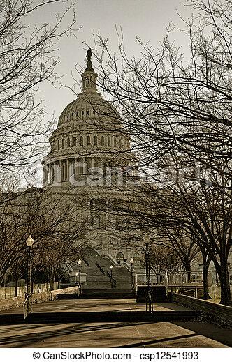 國家, 州議會大廈, 團結, 美國 - csp12541993