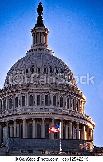 國家, 州議會大廈, 團結, 美國 - csp12542213