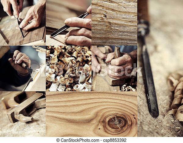 圖像, 木頭, 木匠, 彙整 - csp8853392