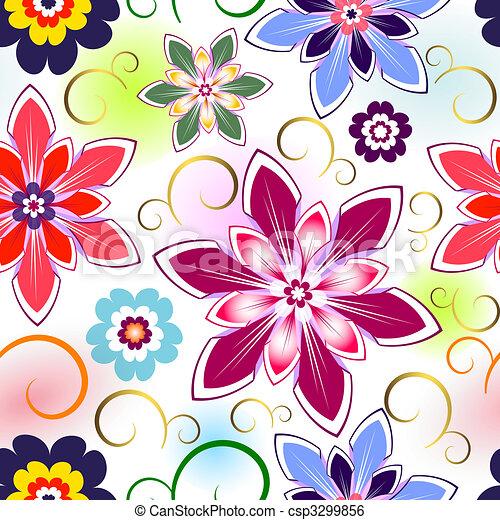 圖案, seamless, 植物 - csp3299856
