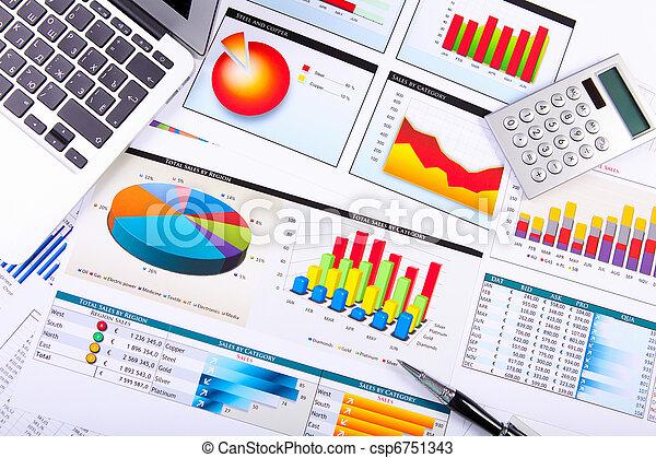 圖表, 桌子。, 圖, 事務 - csp6751343