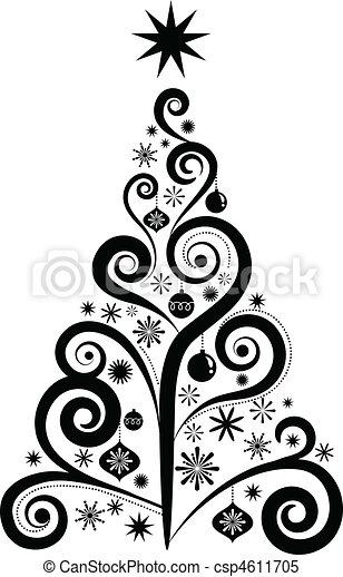 圖表, 樹, 聖誕節 - csp4611705