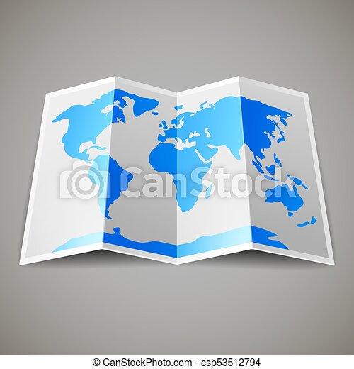 地圖, 世界 - csp53512794
