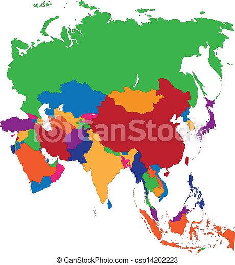 地圖, 亞洲 - csp14202223