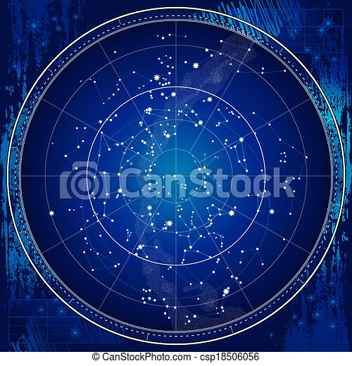地圖, 天上, 天空, 夜晚 - csp18506056