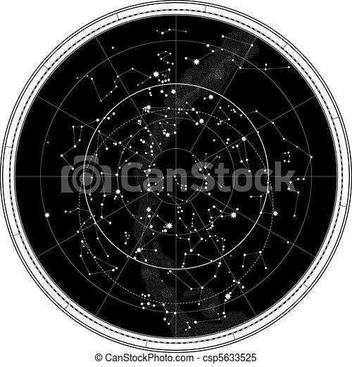 地圖, 天上, 天空, 夜晚 - csp5633525