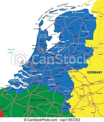 地圖, 荷蘭 - csp11657253
