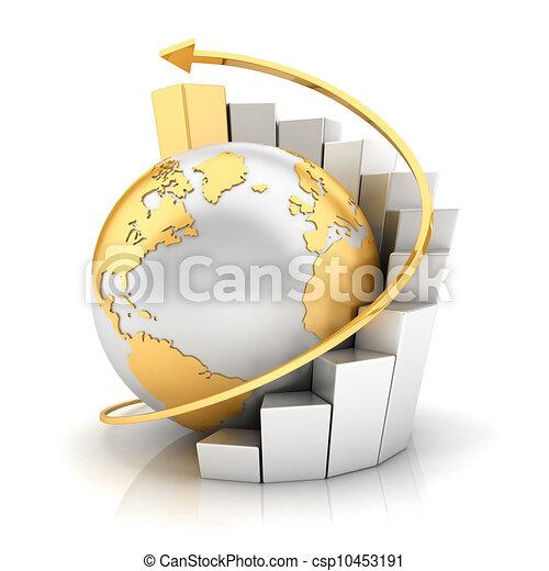 地球, 條形圖, 事務, 3d - csp10453191
