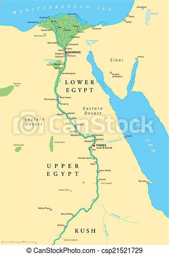 埃及, 地圖, 古老 - csp21521729