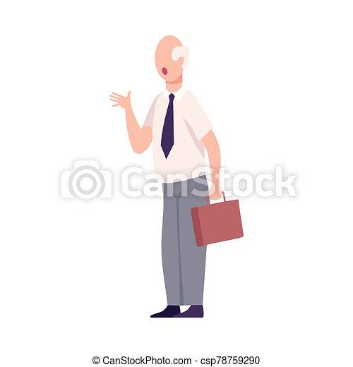 套間, 叫喊, 辦公室, 字, 威脅, 憤怒, 或者, 老板, 男性, 工人, 矢量, 插圖 - csp78759290
