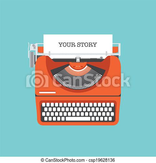 套間, 故事, 分享, 你, 插圖 - csp19628136