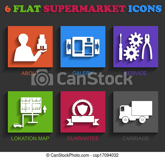 套間, 超級市場, 圖象 - csp17094032