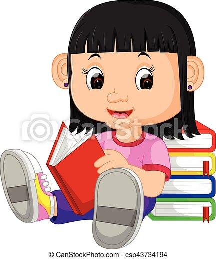 女孩讀物, 書 - csp43734194