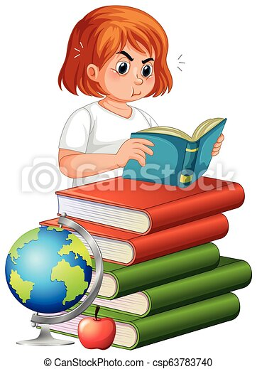 女孩讀物, 書, 肥胖 - csp63783740