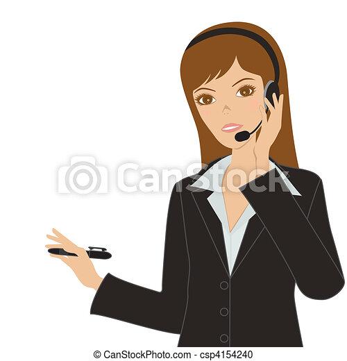 婦女, 事務 - csp4154240