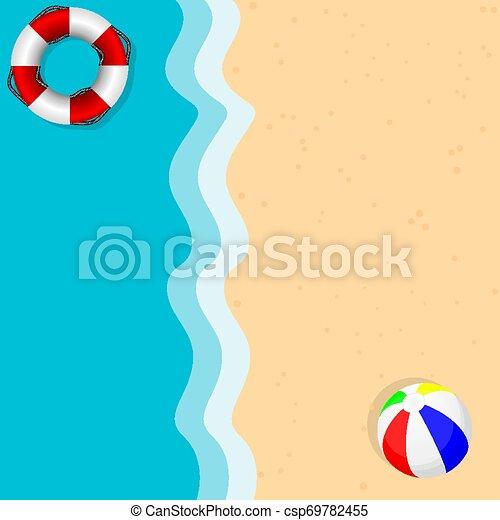 季節, 海灘, 背景 - csp69782455