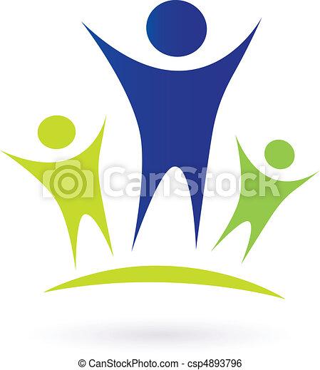 孩子, 社區, -, 成人 - csp4893796