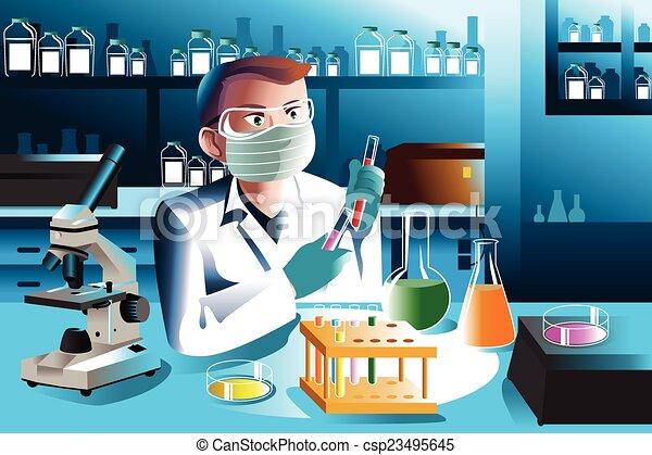 實驗室, 科學家, 工作 - csp23495645