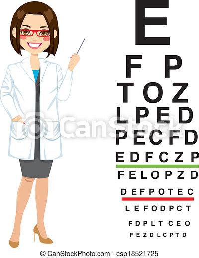 專業人員, 光學儀器商, 女性 - csp18521725