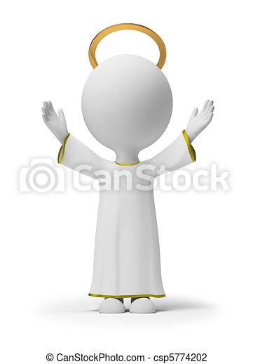 小, 上帝, 3d, -, 人們 - csp5774202