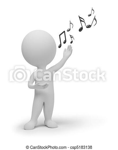小, 歌手, 3d, -, 人們 - csp5183138