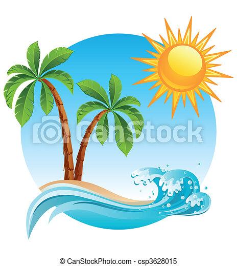 島, 熱帶 - csp3628015
