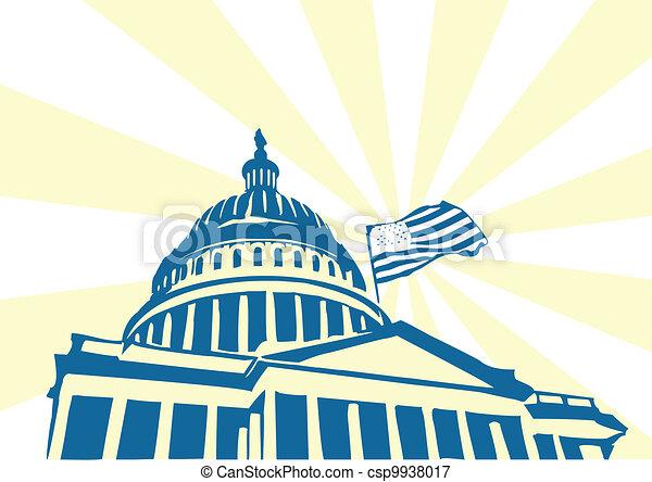 州議會大廈, 美國 - csp9938017