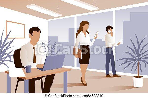 工作, 人 事務, 辦公室。 - csp84533310
