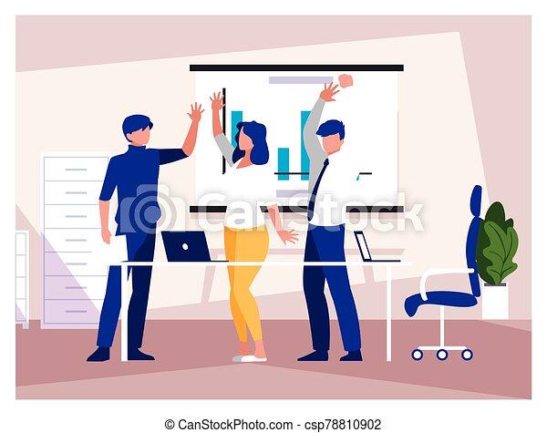 工作, 友好, 辦公室, 協調, 隊, 人們, 組, 商業辦公室 - csp78810902