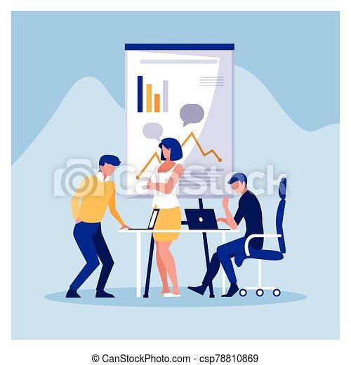 工作, 友好, 辦公室, 協調, 隊, 人們, 組, 商業辦公室 - csp78810869