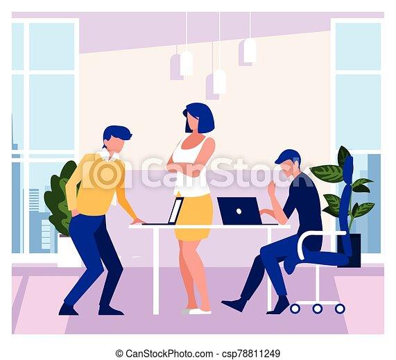 工作, 友好, 辦公室, 協調, 隊, 人們, 組, 商業辦公室 - csp78811249
