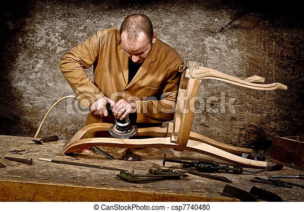 工作, 木匠 - csp7740480