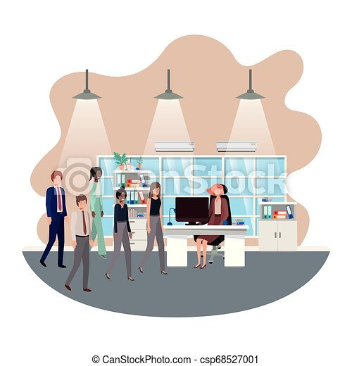 工作, 組, 商業辦公室, 人們 - csp68527001