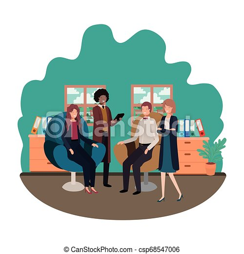 工作, 組, 商業辦公室, 人們 - csp68547006