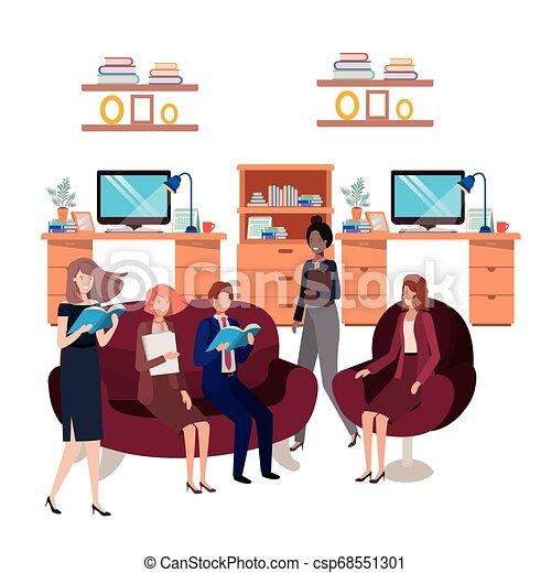 工作, 組, 商業辦公室, 人們 - csp68551301