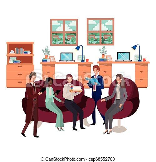 工作, 組, 商業辦公室, 人們 - csp68552700