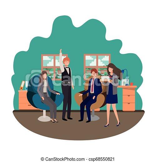 工作, 組, 商業辦公室, 人們 - csp68550821