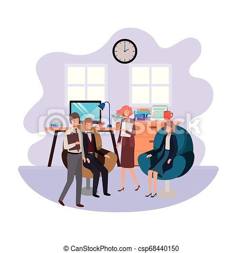 工作, 組, 商業辦公室, 人們 - csp68440150