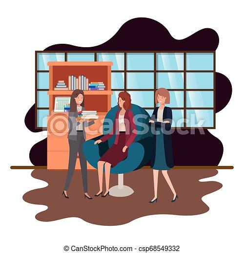 工作, 組, 商業辦公室, 人們 - csp68549332