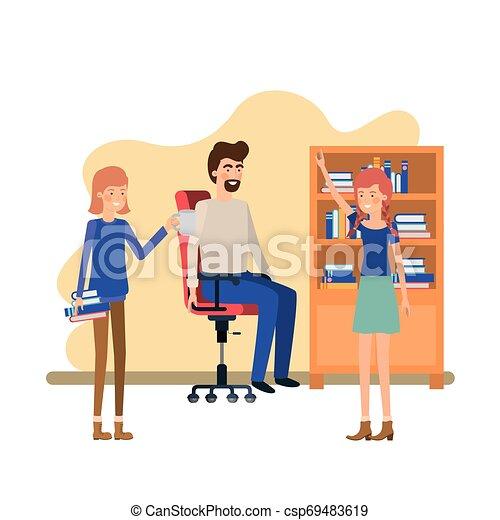 工作, 組, 辦公室人們 - csp69483619